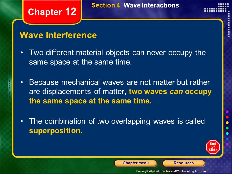 Chapter 12 Wave Interference