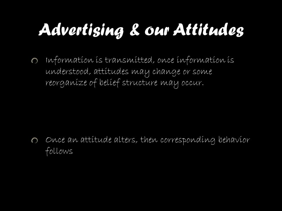 Advertising & our Attitudes