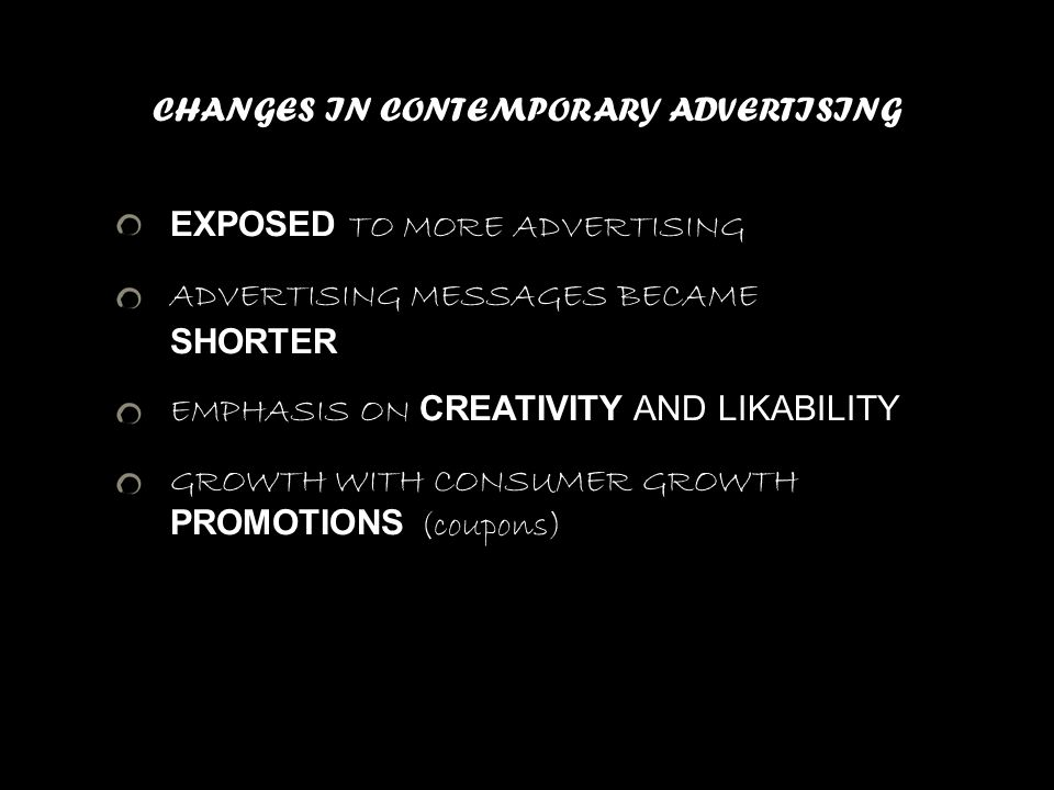CHANGES IN CONTEMPORARY ADVERTISING