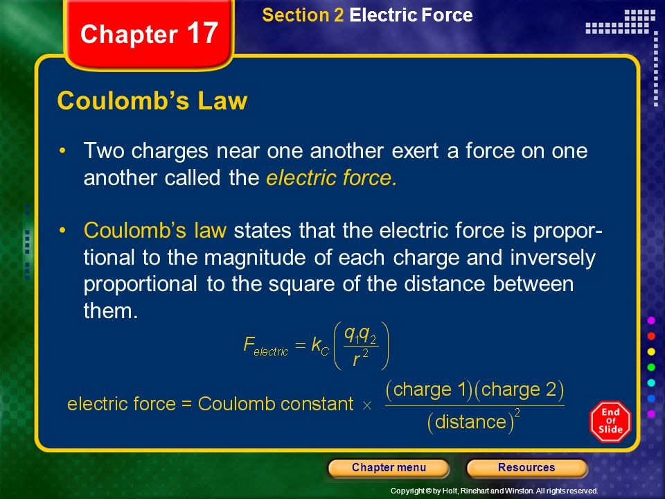 Section 2 Electric Force