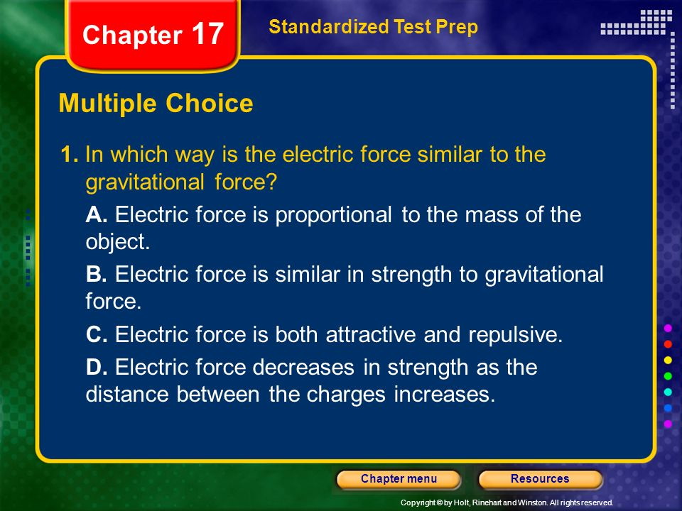 Chapter 17 Multiple Choice