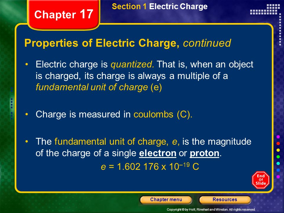 Properties of Electric Charge, continued
