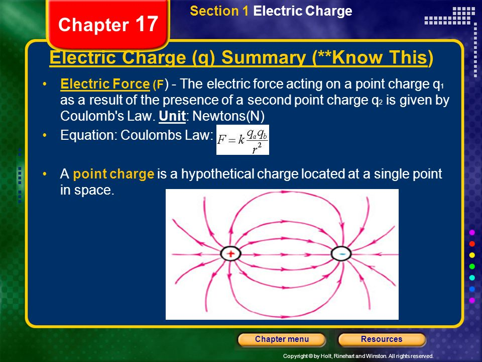 Electric Charge (q) Summary (**Know This)