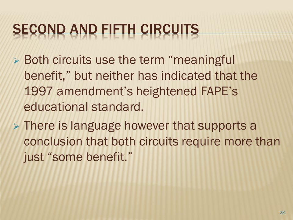 Second and Fifth Circuits