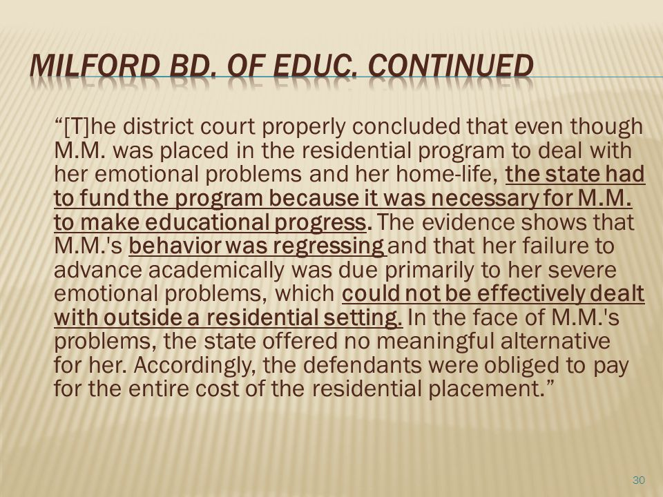 Milford Bd. of educ. continued