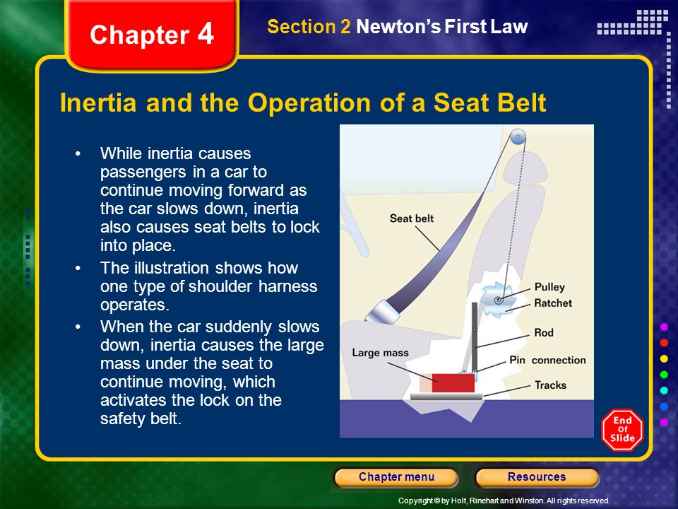 Inertia and the Operation of a Seat Belt