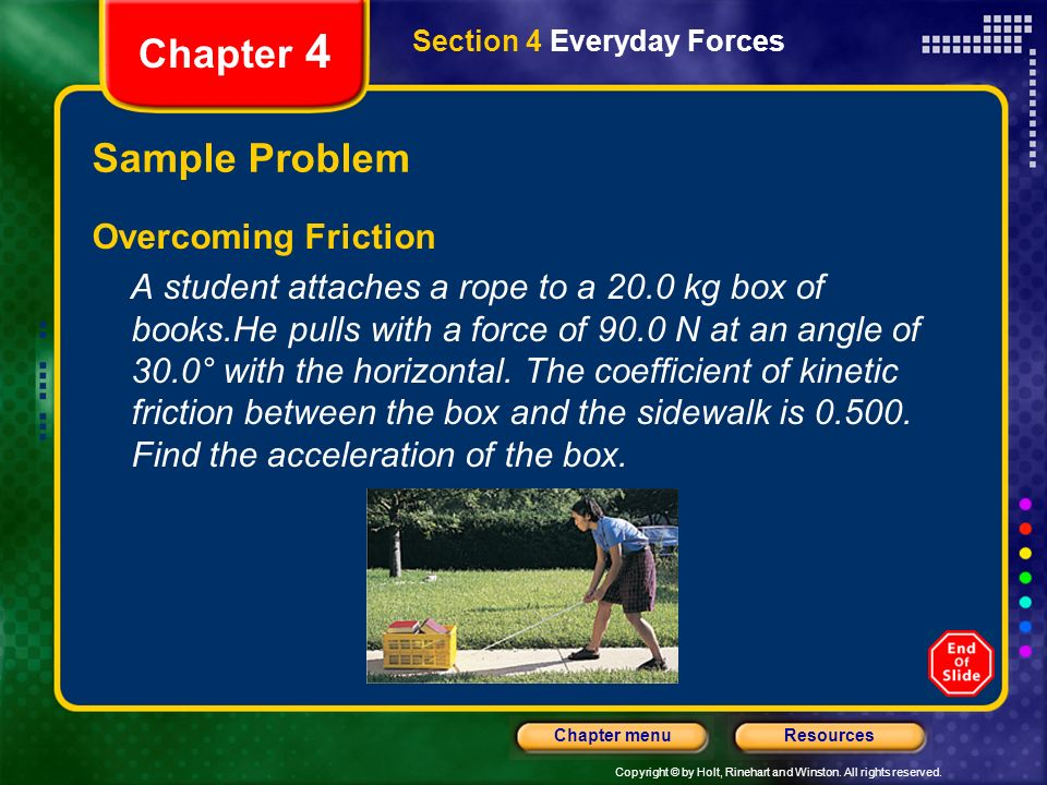 Chapter 4 Sample Problem Overcoming Friction