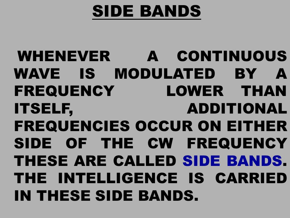 SIDE BANDS