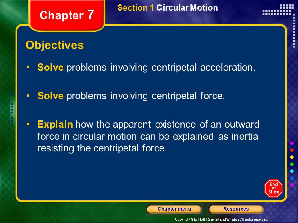 Section 1 Circular Motion