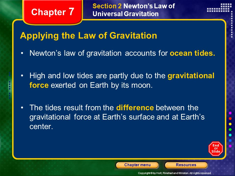 Applying the Law of Gravitation