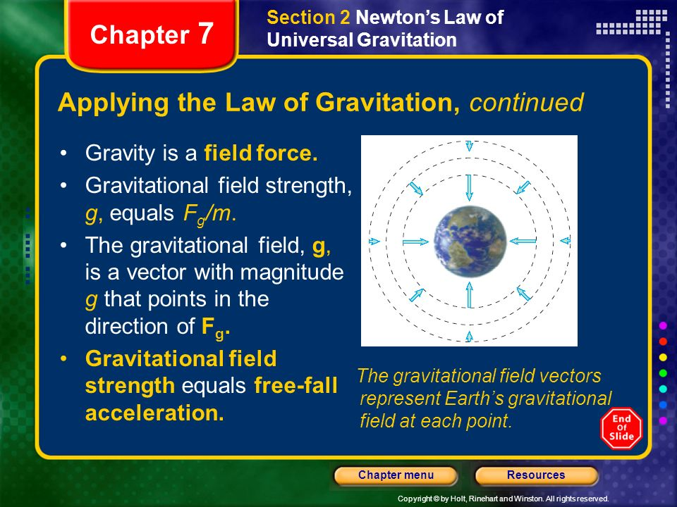 Applying the Law of Gravitation, continued