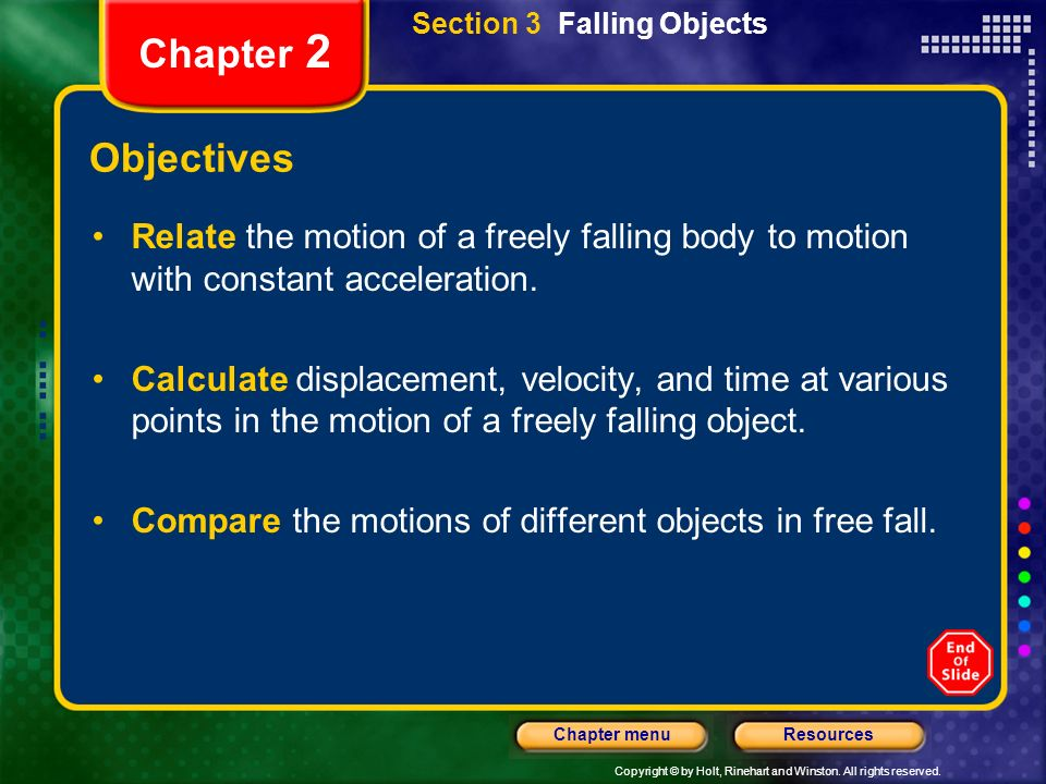 Section 3 Falling Objects