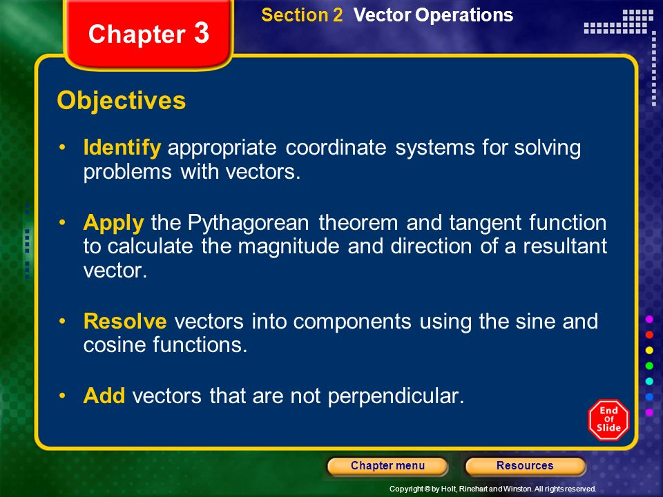 Section 2 Vector Operations