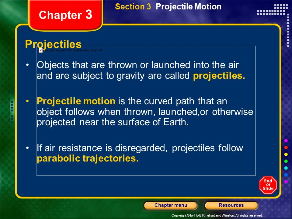 Section 3 Projectile Motion