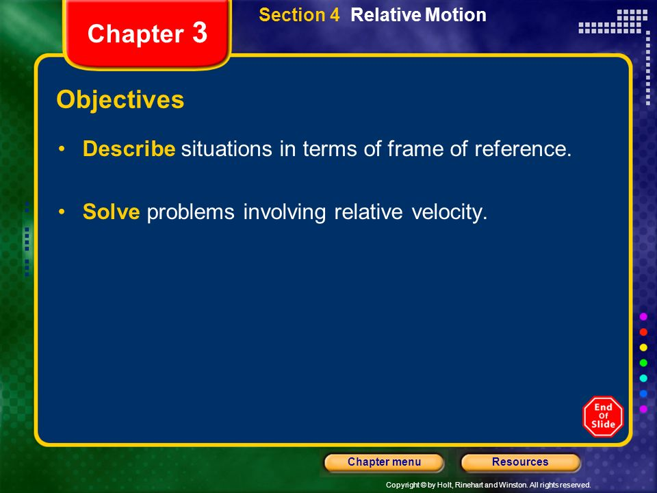 Section 4 Relative Motion