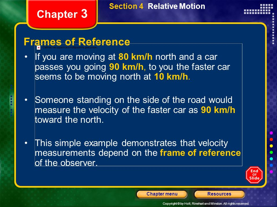 Chapter 3 Frames of Reference