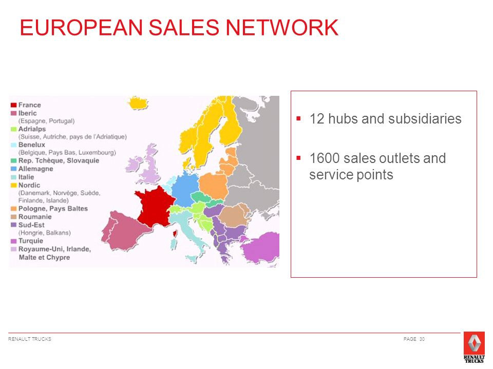 EUROPEAN SALES NETWORK