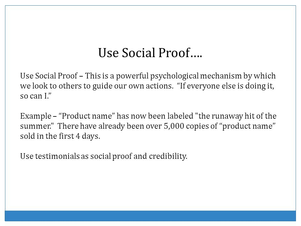 Use Social Proof….
