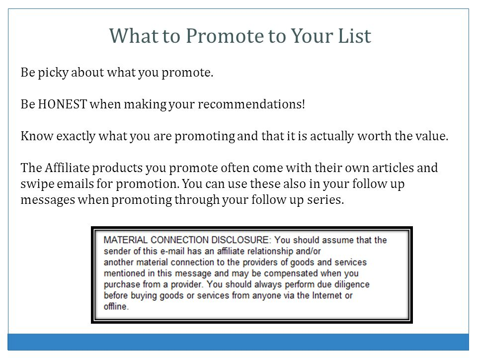 What to Promote to Your List