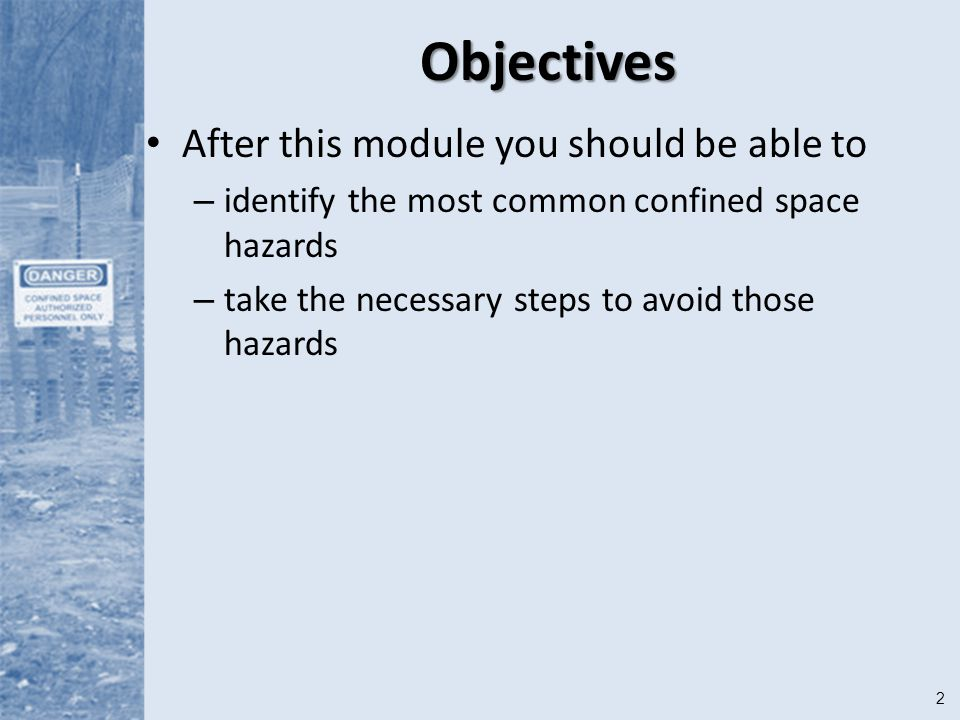 Objectives After this module you should be able to