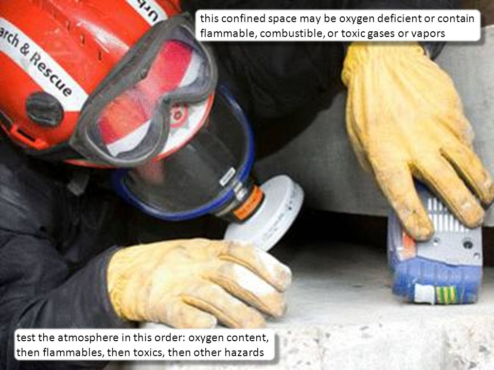 this confined space may be oxygen deficient or contain flammable, combustible, or toxic gases or vapors