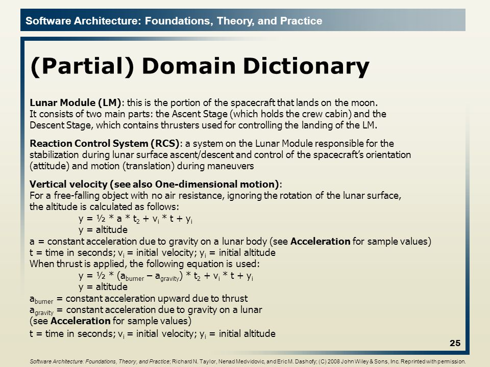 (Partial) Domain Dictionary