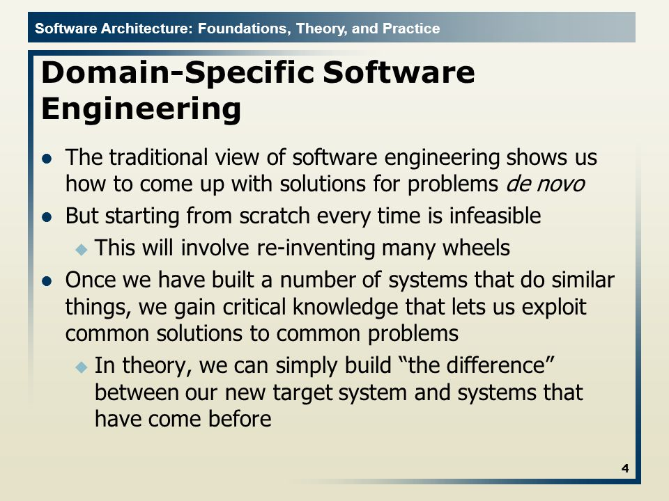 Domain-Specific Software Engineering