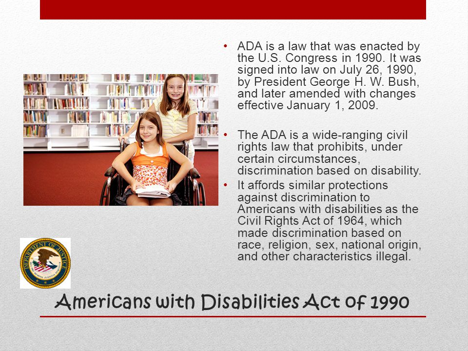 Americans with Disabilities Act of 1990