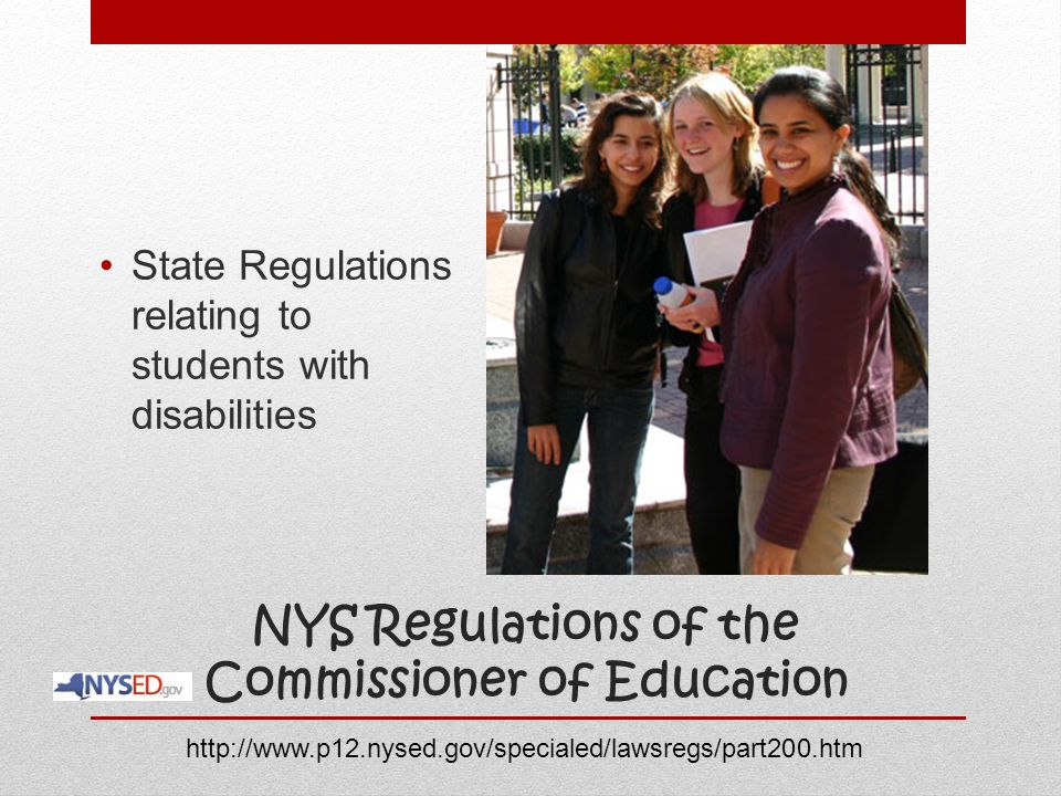 NYS Regulations of the Commissioner of Education