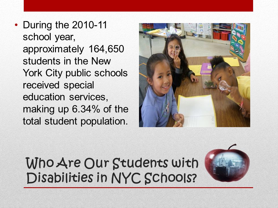 Who Are Our Students with Disabilities in NYC Schools