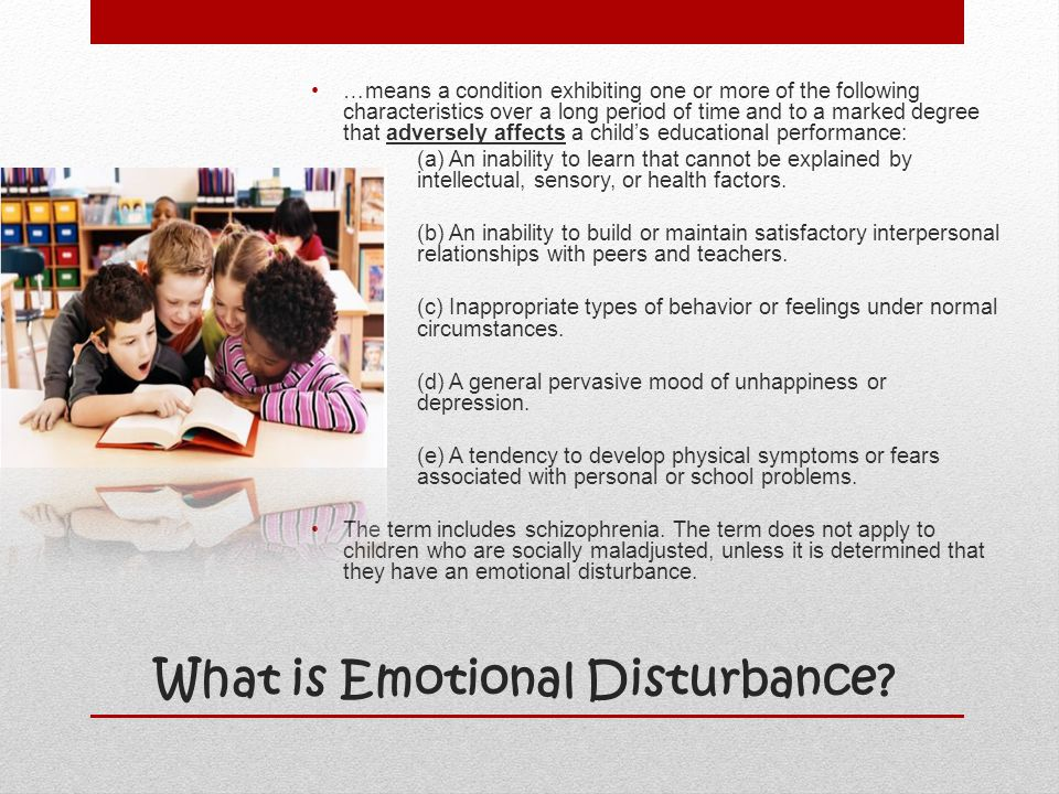 What is Emotional Disturbance