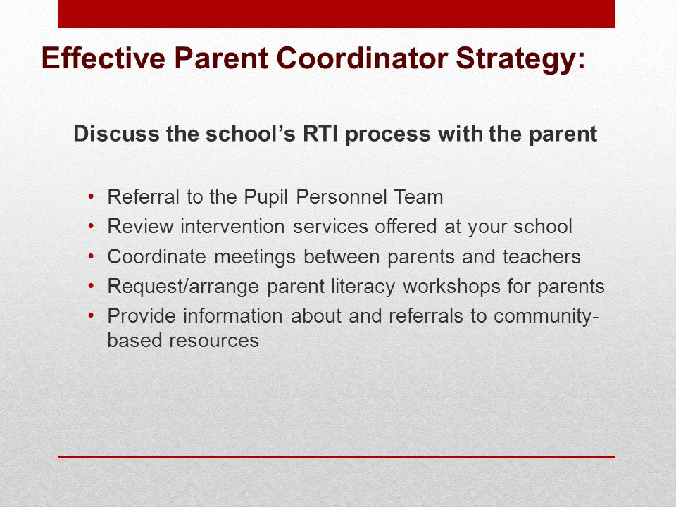 Effective Parent Coordinator Strategy: