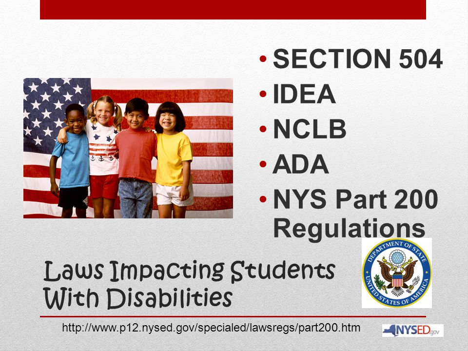 Laws Impacting Students With Disabilities