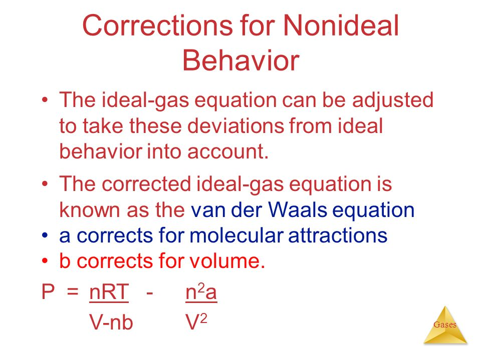 Corrections for Nonideal Behavior