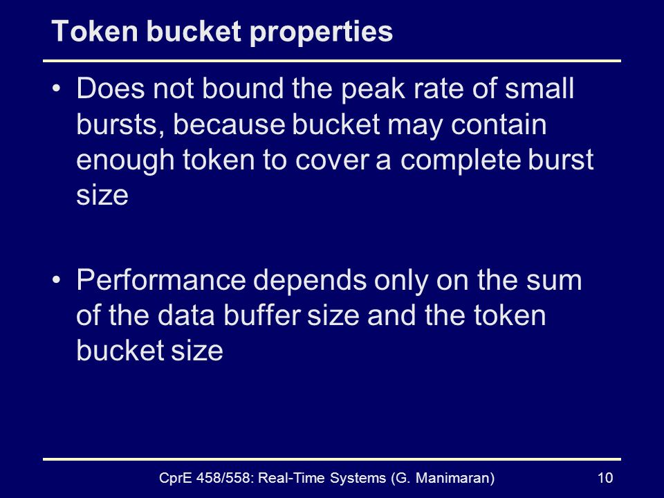 Token bucket properties