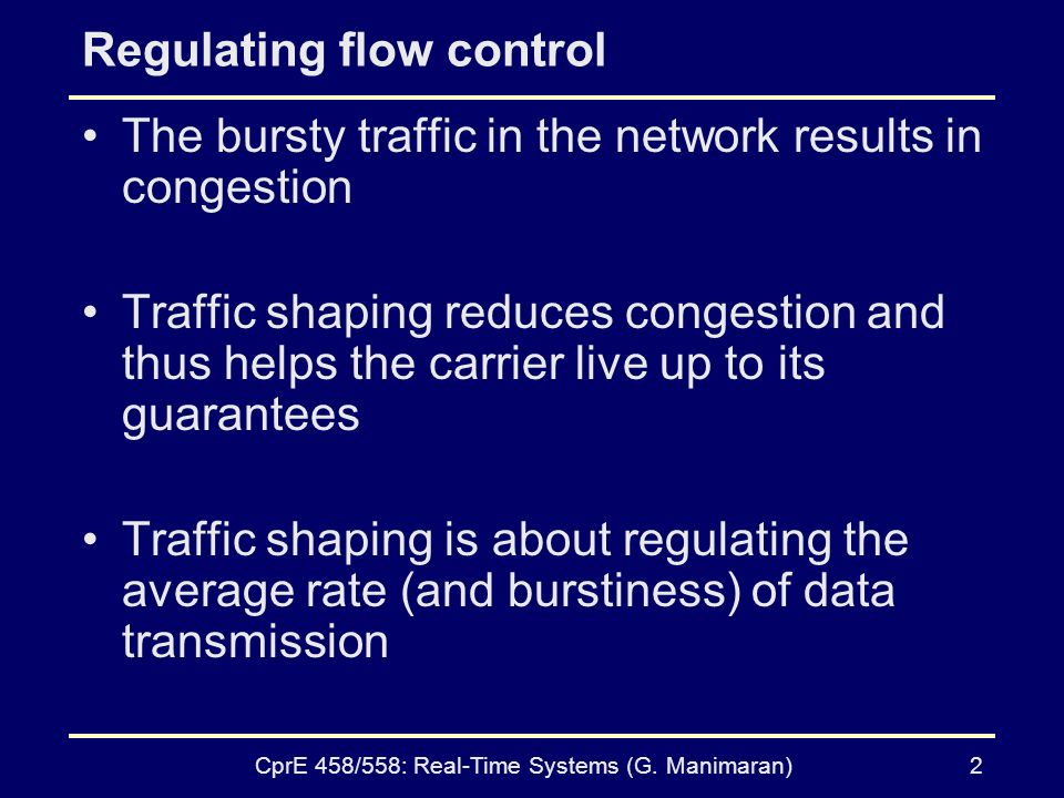 Regulating flow control