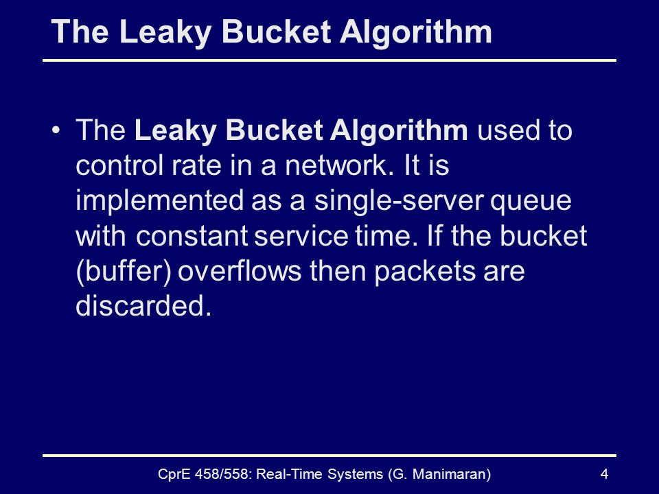 The Leaky Bucket Algorithm