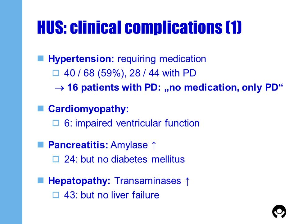 HUS: clinical complications (1)