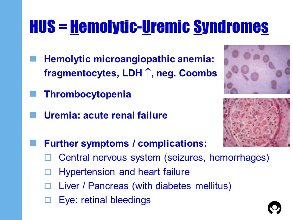 HUS = Hemolytic-Uremic Syndromes