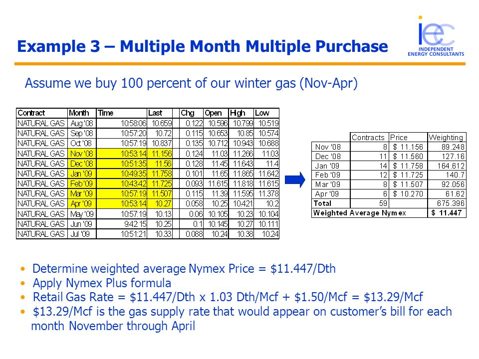 Example 3 – Multiple Month Multiple Purchase