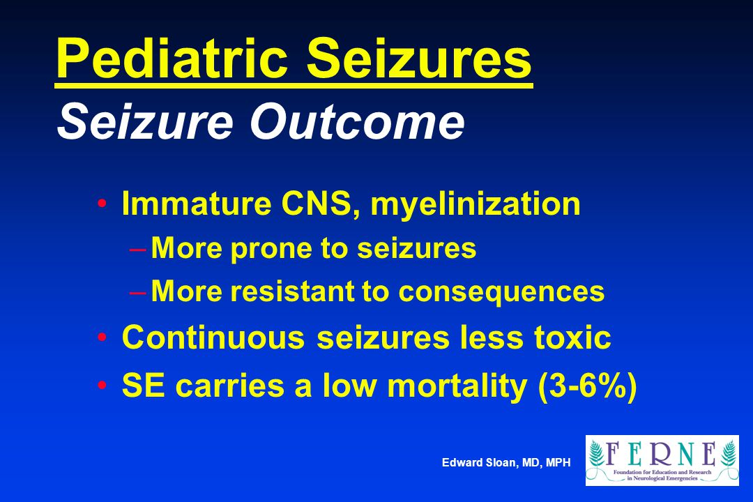 Pediatric Seizures Seizure Outcome
