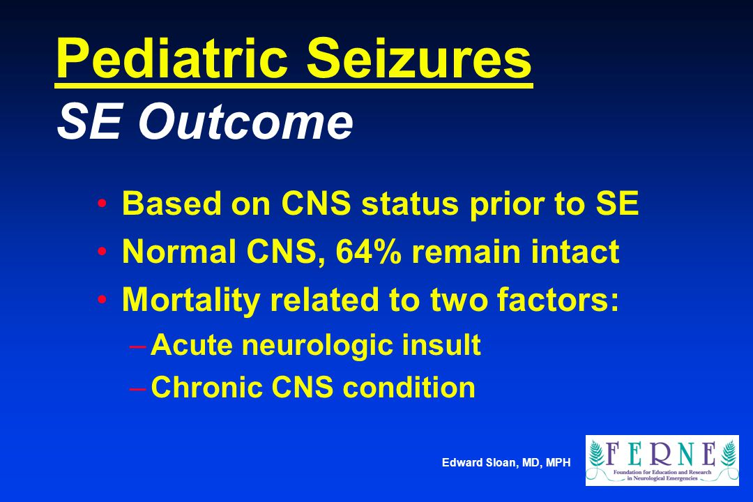 Pediatric Seizures SE Outcome