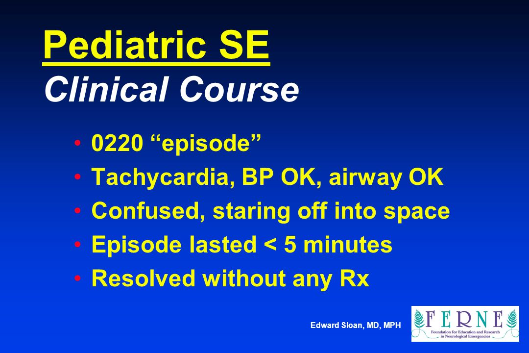Pediatric SE Clinical Course