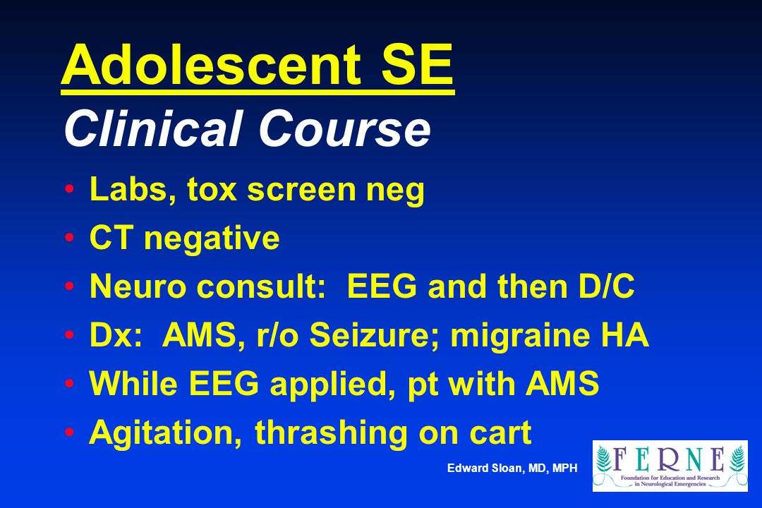 Adolescent SE Clinical Course