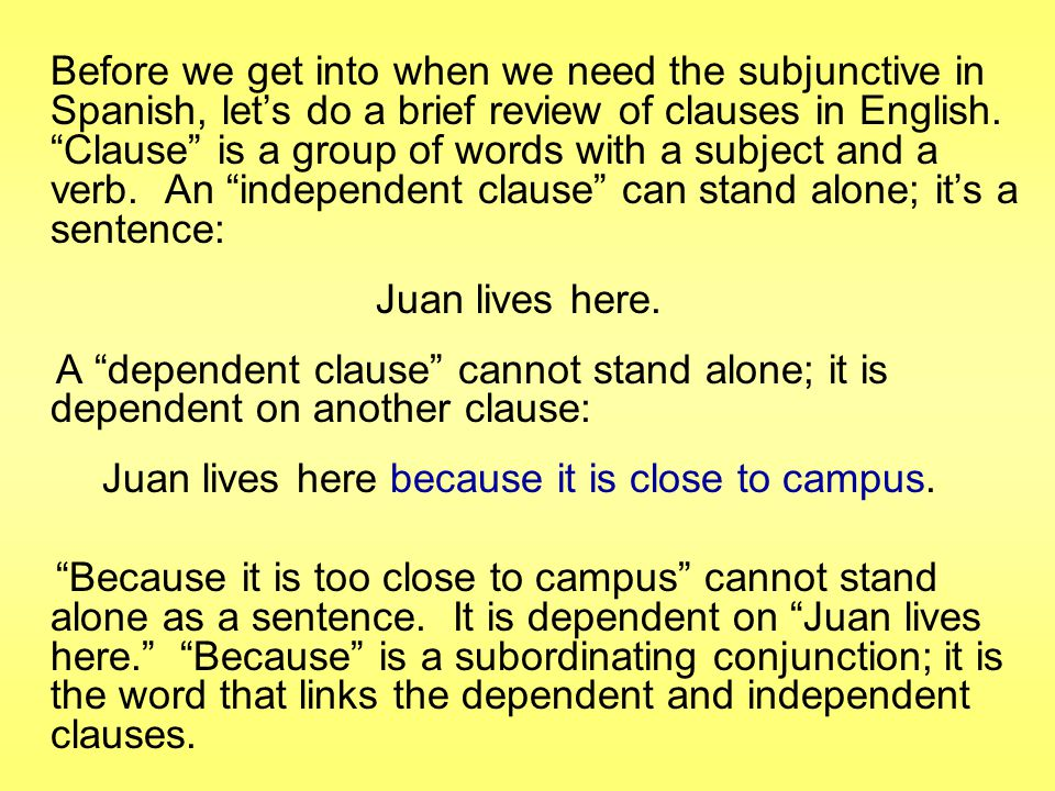 Juan lives here because it is close to campus.