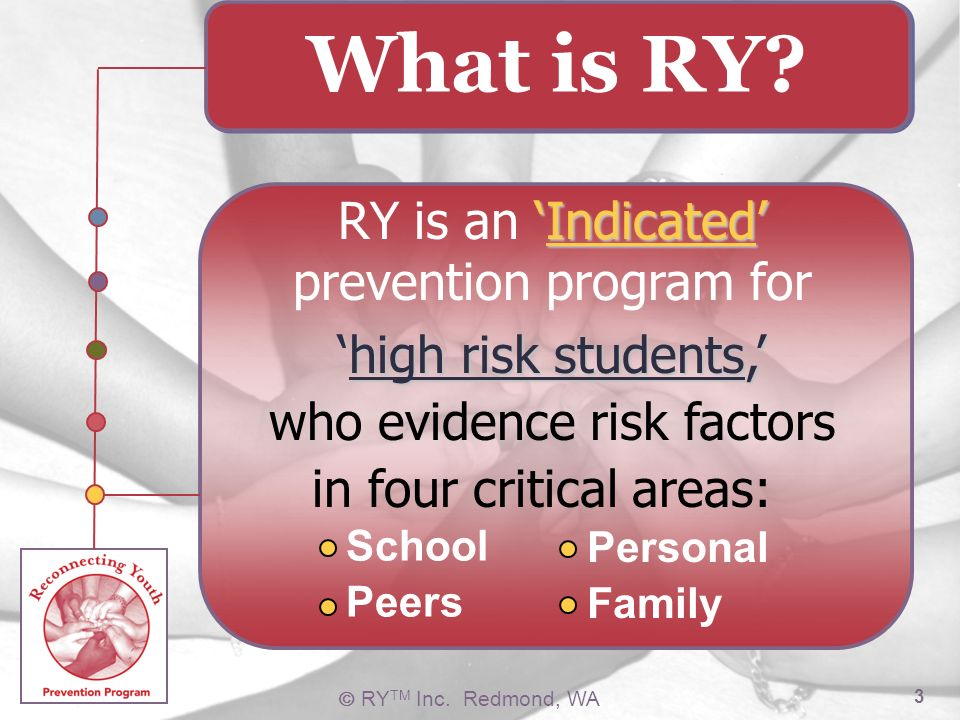 RY is an 'Indicated' prevention program for