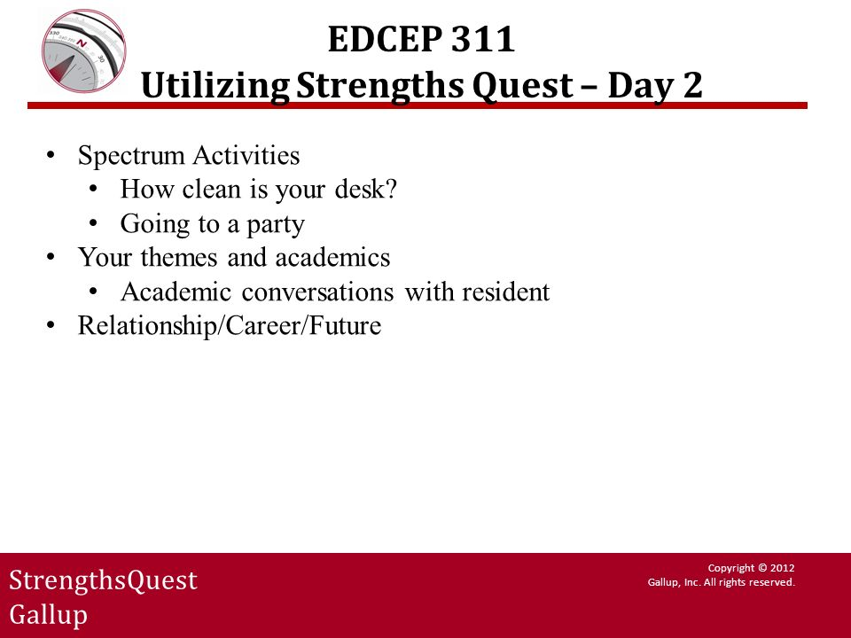 EDCEP 311 Utilizing Strengths Quest – Day 2