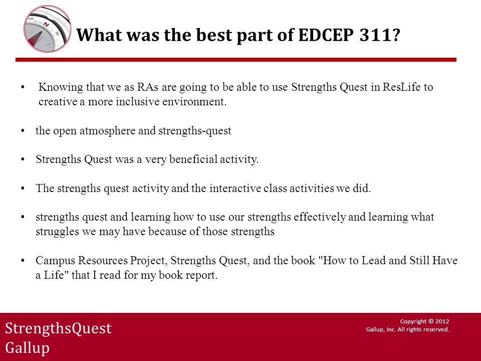 What was the best part of EDCEP 311