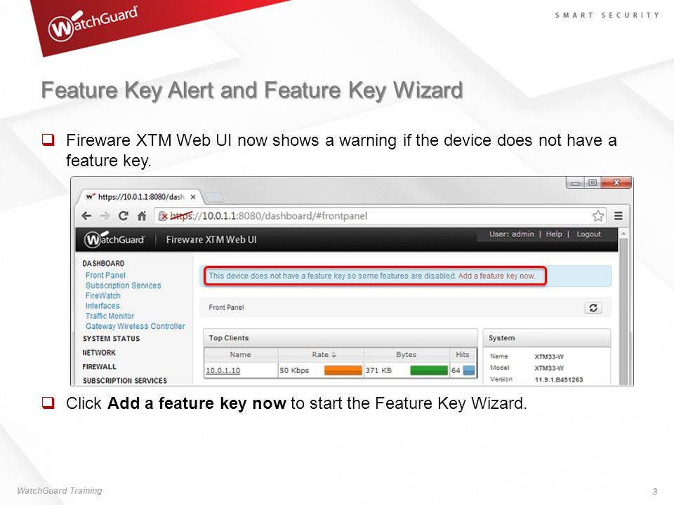 Feature Key Alert and Feature Key Wizard