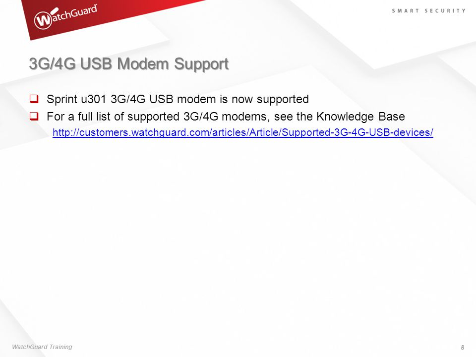 3G/4G USB Modem Support Sprint u301 3G/4G USB modem is now supported
